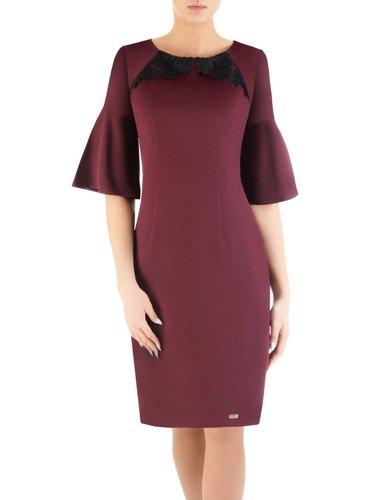Sukienka damska Silvetta IX, jesienna kreacja z modnymi rękawami.