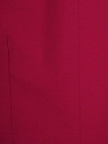 Amarantowa sukienka Nina IV, luźna kreacja wyszczuplająca brzuch.