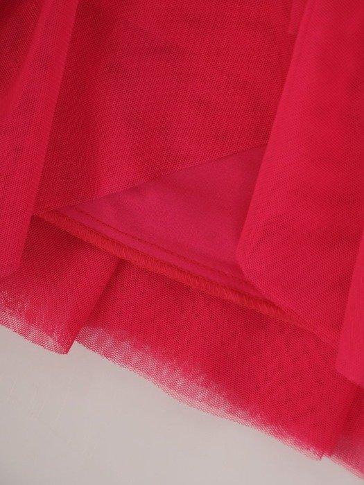 Amarantowa tiulowa spódnica 24889
