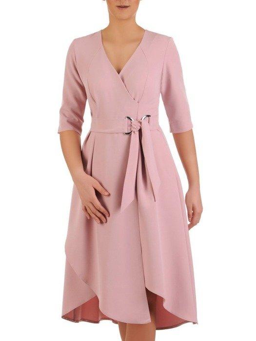 Asymetryczna sukienka z kopertowym dekoltem 24766
