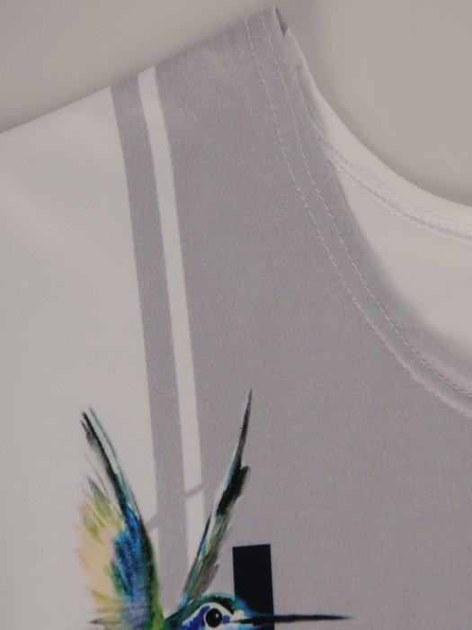 Atrakcyjna bluzka ze zwierzęcym nadrukiem Żanetta