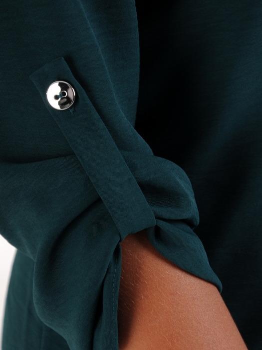 Bawełniana bluzka z luźnymi, podwijanymi rękawami 22097