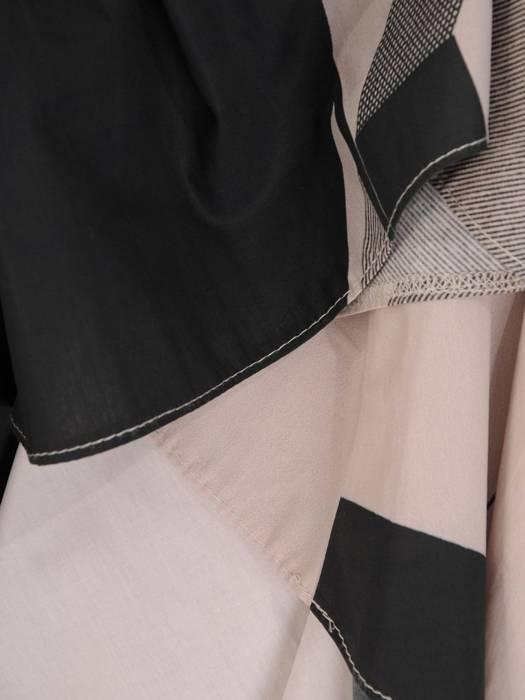 Bawełniana sukienka w luźnym fasonie, kreacja z wydłużonym tyłem 30080