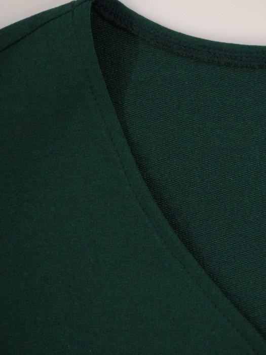 Bawełniana sukienka z dzianiny, kreacja w wyszczuplającym fasonie 24373