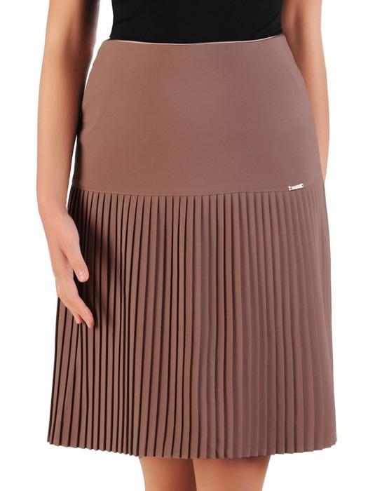 Beżowa spódnica z plisowanym wykończeniem 22259.