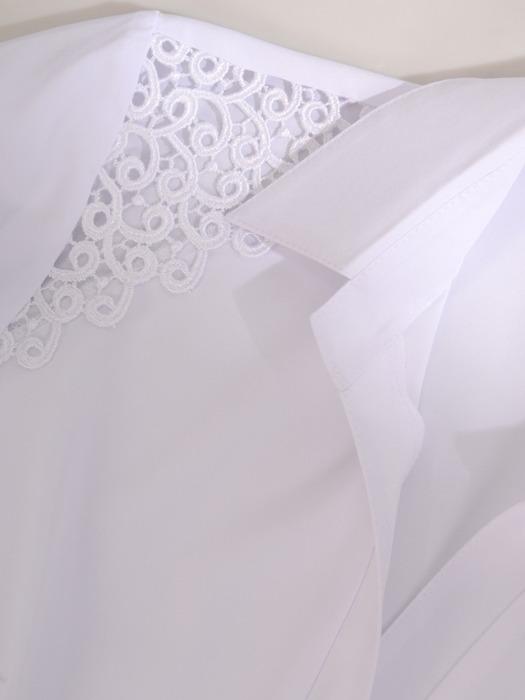 Biała bluzka z koronkowymi wstawkami 21949