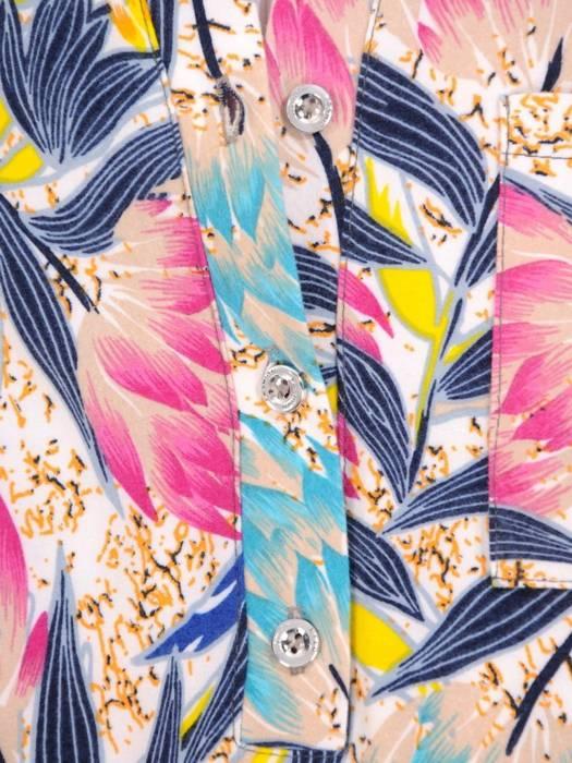 Bluzka damska w kwiatowym wzorze 28734