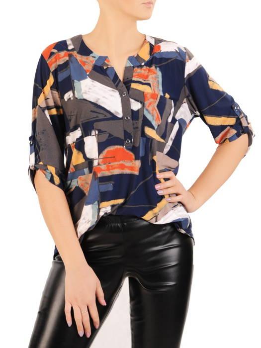 Bluzka damska z guzikami na dekolcie 30983