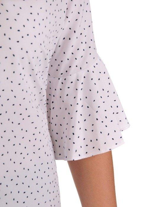 Bluzka damska z ozdobnymi rękawami 26562