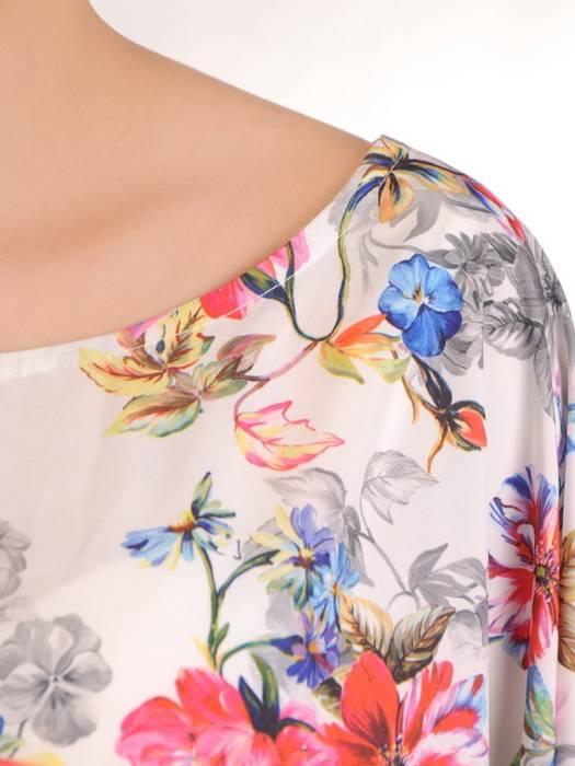 Bluzka damska z przedłużanym tyłem 29474