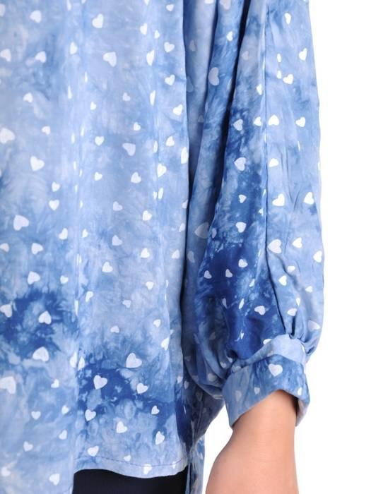 Bluzka damska z przedłużanym tyłem 29489