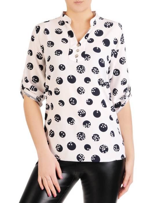 Bluzka koszulowa ze stójką 29189