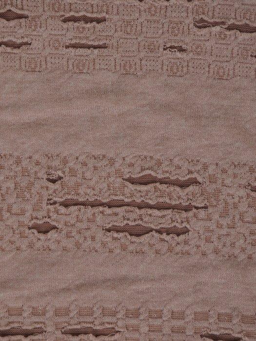 Bluzka z marszczoną stójką i tiulowymi wstawkami 18717