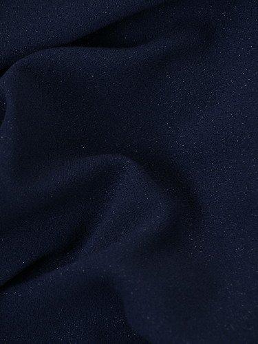 Błyszcząca sukienka Flawia VIII, kreacja z szyfonową narzutką.