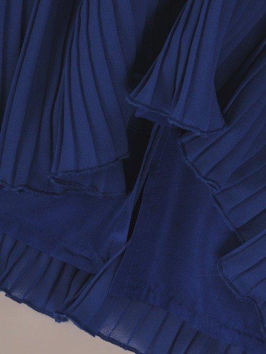 Chabrowa kreacja, zwiewna sukienka z szyfonu 25982