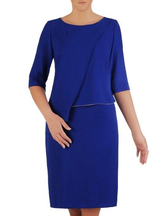 Chabrowa sukienka, elegancka kreacja z subtelnym zdobieniem 26003
