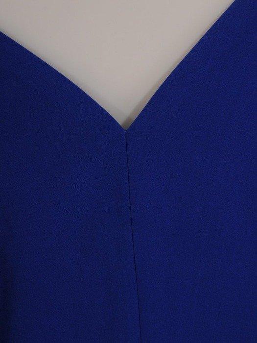 Chabrowa sukienka maxi z błyszczącą aplikacją w talii 22756