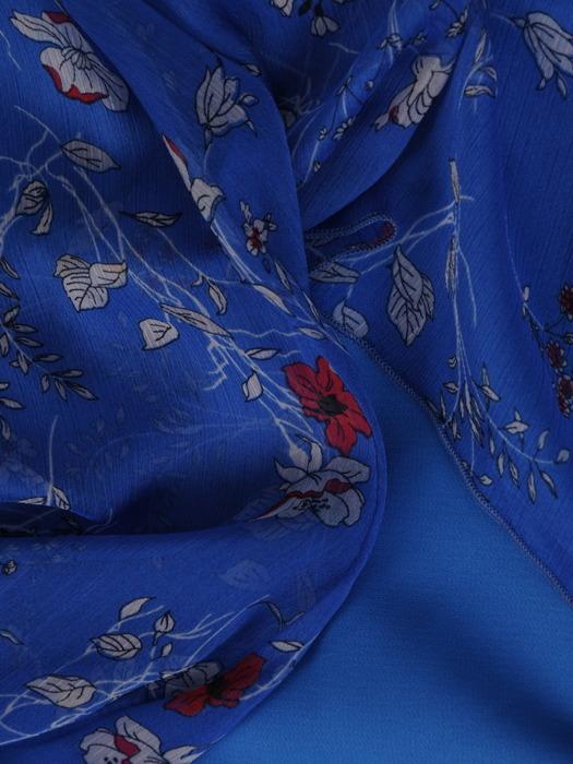 Chabrowa sukienka w fasonie maskującym brzuch 20891.