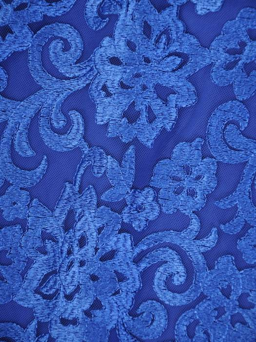 Chabrowa sukienka wieczorowa, kreacja z łączonych materiałów 30444