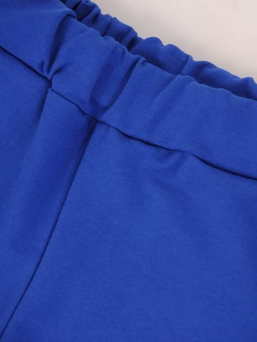 Chabrowy komplet dresowy z ozdobnym łańcuszkiem 28704