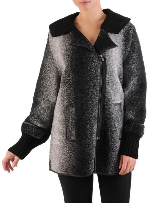 Ciepły sweter z ozdobnymi ściągaczami Benita