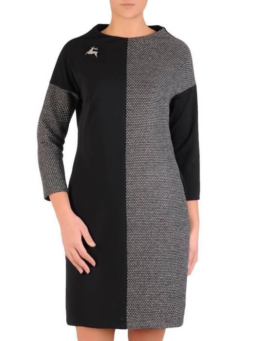 Codzienna sukienka, efektowna kreacja z łączonych materiałów 28133