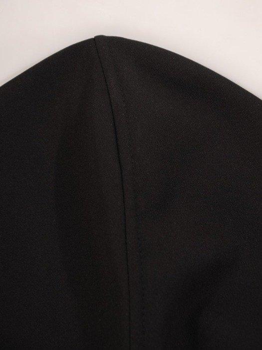 Czarna sukienka gorsetowa, kreacja maksi 24904