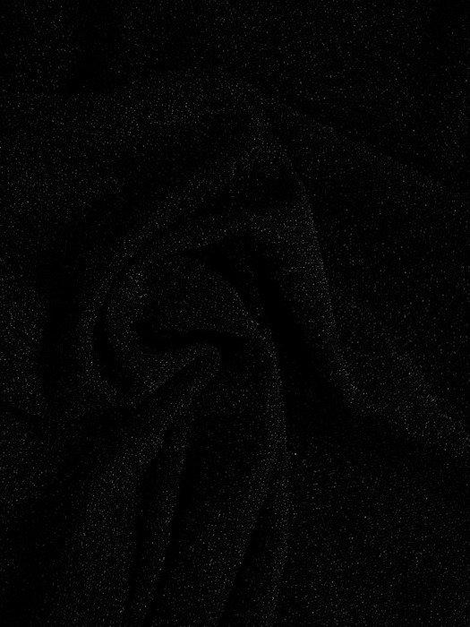 Czarna sukienka z tiulowymi wstawkami, nowoczesna kreacja wieczorowa 18669