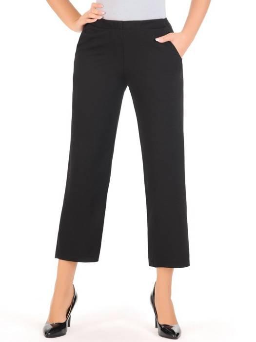Czarne szerokie spodnie z gumką w pasie 27323