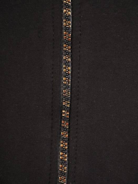 Czarny dres damski, wygodne spodnie z bluzą zapinaną na zamek 29629