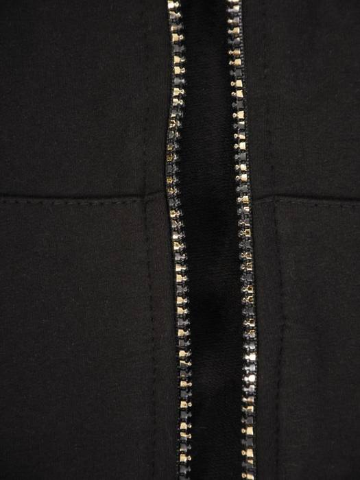 Czarny dres damski, wygodne spodnie z bluzą zapinaną na zamek 29633