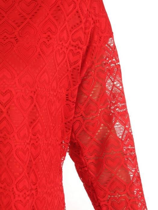 Czerwona elegancka bluzka z koronki 28644
