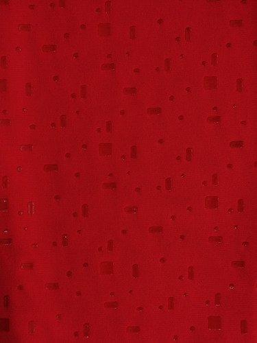 Czerwona sukienka Lara I, kreacja wizytowa z połyskującej dzianiny.