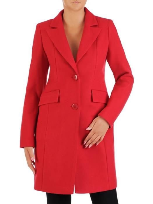 Czerwony płaszcz z kołnierzem 26973