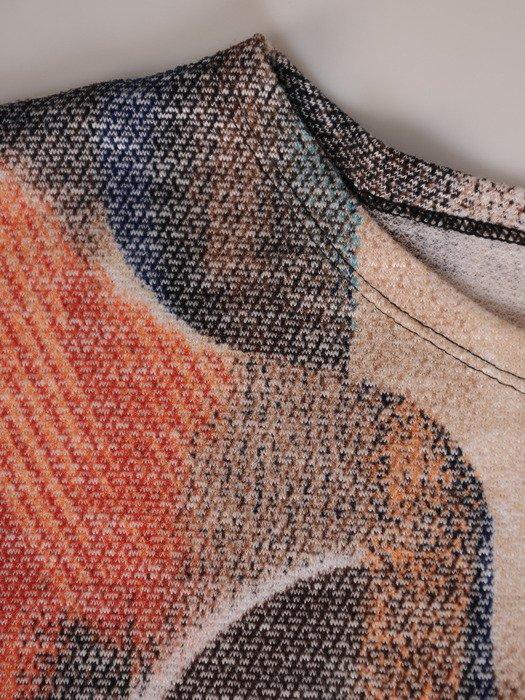 Długa bluzka z kimonowymi rękawami 18452.