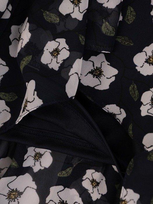Długa szyfonowa sukienka w kwiaty 25922