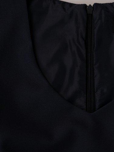 Długa, wyszczuplająca sukienka z cieniowanej tkaniny 15206.