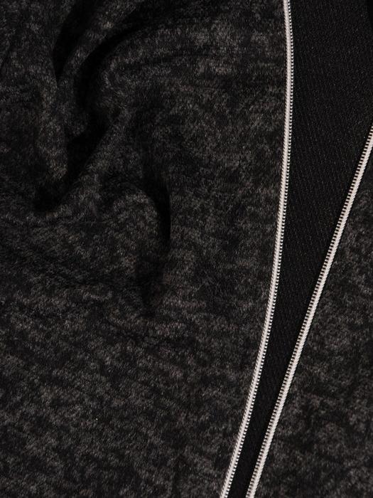Długi, melanżowy sweter z metalowym suwakiem 22310
