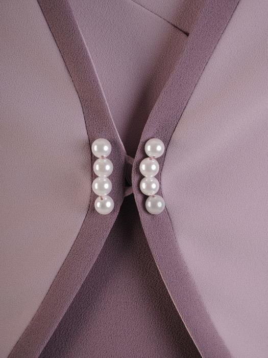 Dwukolorowa sukienka z żakietem, modny kostium wizytowy 22733