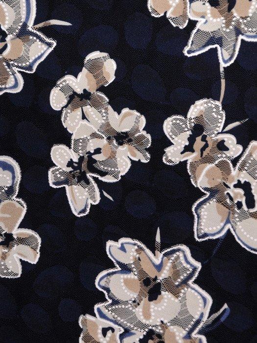 Dwuwarstwowa bluzka z efektowną, koronkową narzutką 19274