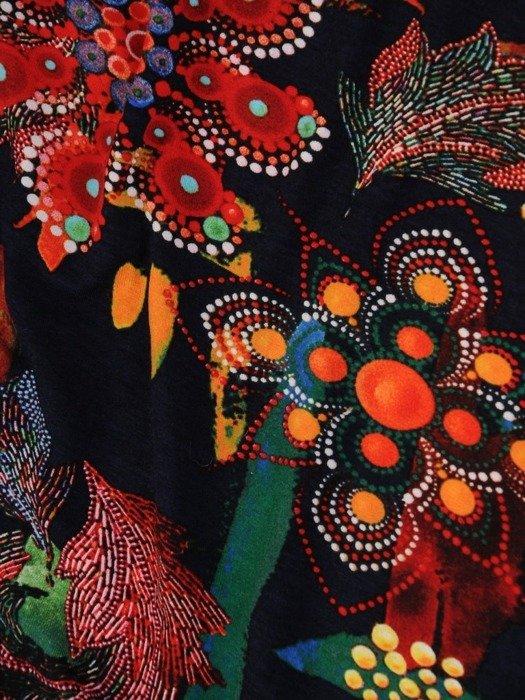 Dzianinowa bluzka z wycięciem przy dekolcie 24967