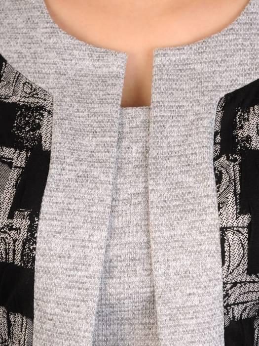 Dzianinowa sukienka, kreacja z imitacją żakietu 29332