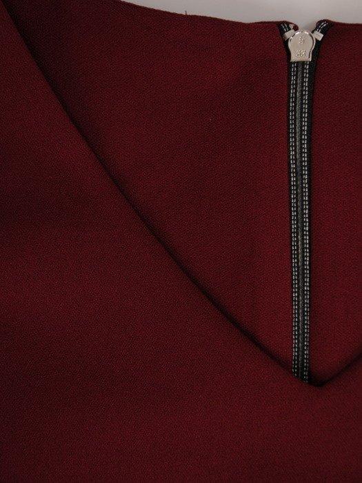 Dzianinowa sukienka z kieszeniami, modna kreacja w fasonie tuby 19932