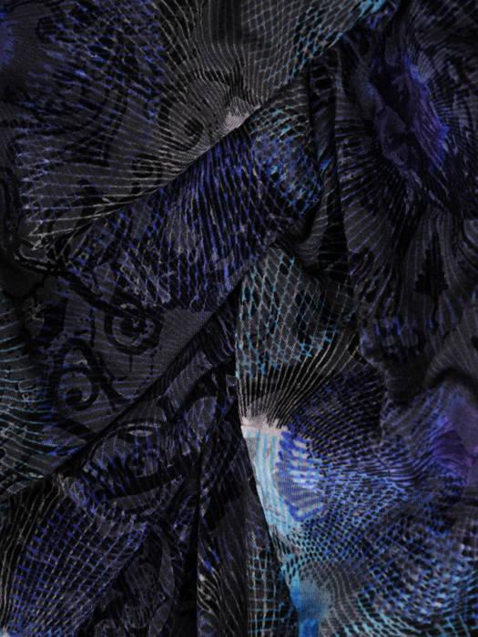 Dzianinowa sukienka z ozdobnymi marszczeniami w pasie 31025