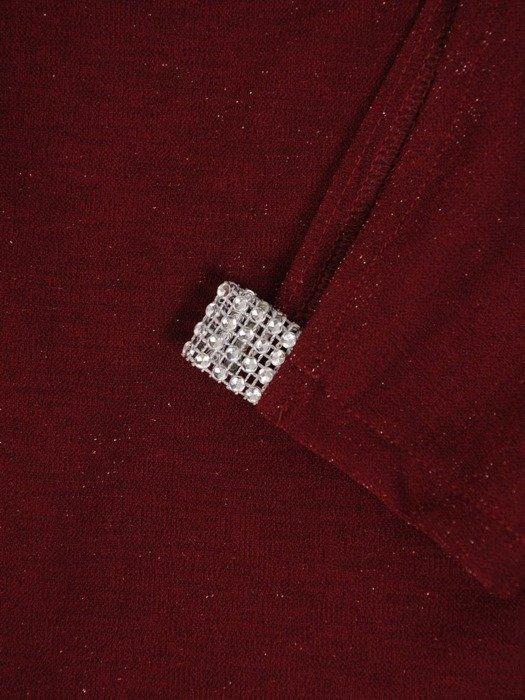Dzianinowa sukienka z ozdobnymi rozcięciami na rękawach 22811