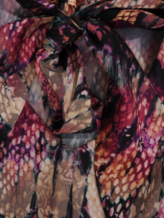 Elegancka bluzka z wiązaniem na kokardę 19078