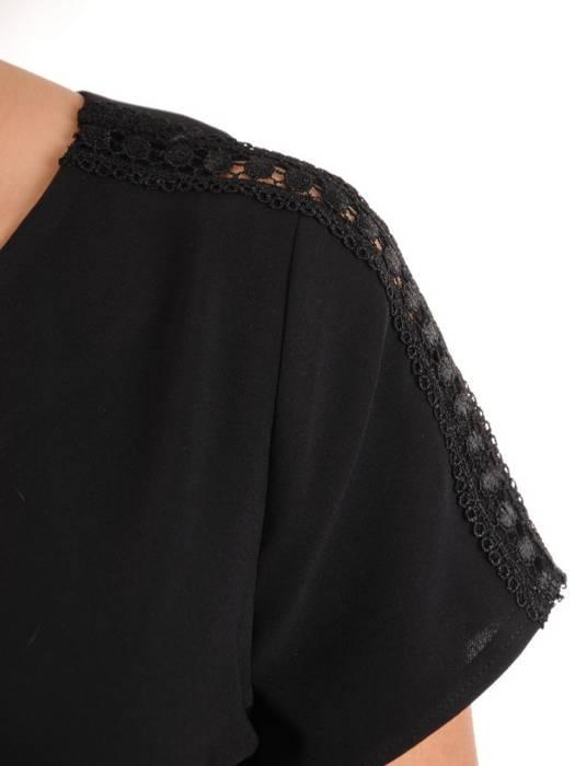 Elegancka czarna bluzka 29061