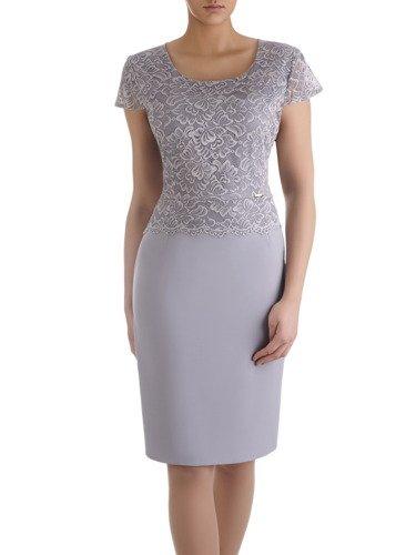 Elegancka sukienka ozdobiona koronką Miranda V.
