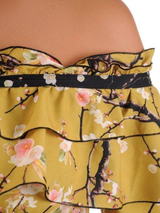 Elegancka sukienka wyjściowa z odkrytymi ramionami 26746