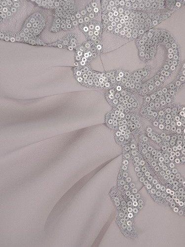 Elegancka sukienka wykończona ozdobnymi cekinami 16723.